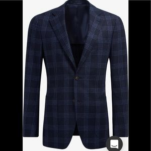 Suitsupply Havana Blue Check Sport Coat